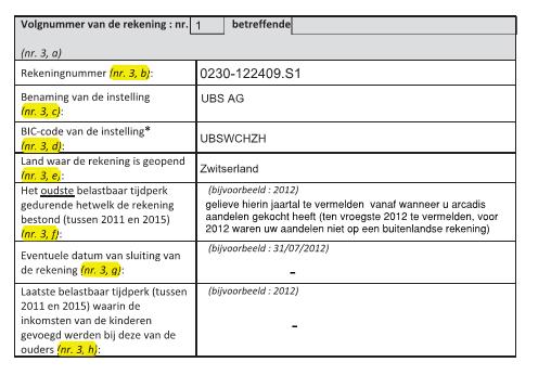 Belastinginformatie Belgie 5