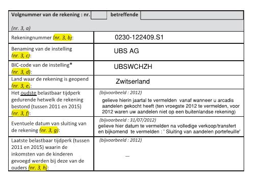 Belastinginformatie Belgie 6